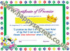 Pack of 10 Certificates of promise