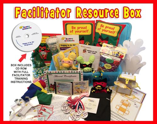 'Happy to be Me' Facilitator Full Resources Box and Training Modules - Self-Esteem Programme